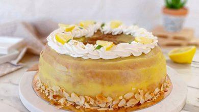 Photo de un gâteau au citron frais et très léger